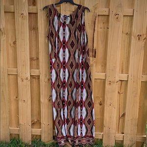 Roaman's kaleidoscope print maxi dress, 3X